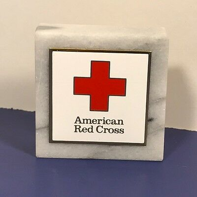 American Red Cross Marble Paperweight 9-11 Twin Towers New York Minieola Gold Us