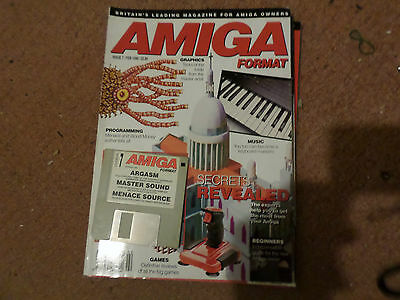 Amiga Format Issue no 7 with Cover disks Good condition