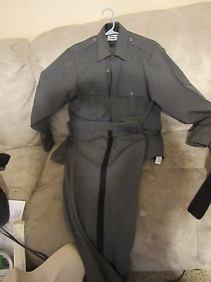 Blauer Uniform Pants 8950-4 33 Shirt 15 1/2 Outfit Police Sheriff Heather Grey