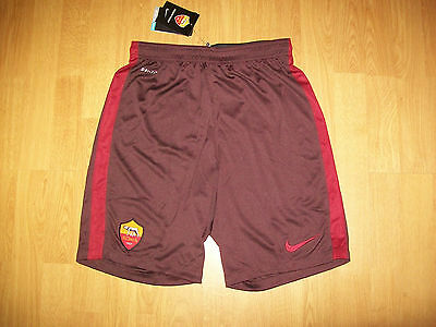 BNWT AS Roma shorts, medium, Nike Dri-Fit, UK FREEPOST!