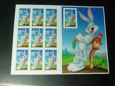 Usa 1997 10 X 32 Cents Looney Tunes Bugs Bunny Sc#3137      As
