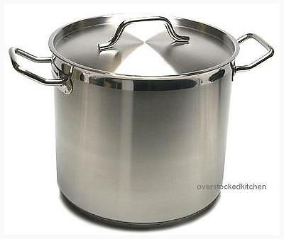 80qt Stainless Steel COMMERCIAL GRADE NSF STOCK POT W/ LID, New
