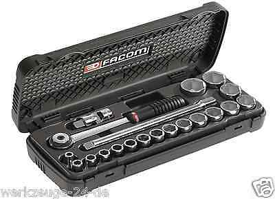 FACOM S.600 1/2'' socket set 20 pieces mit Vollhand Ratchet S.161