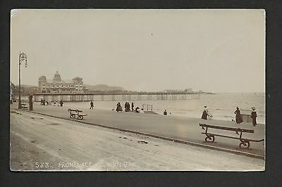 Colwyn Bay - Promenade - real photographic postcard