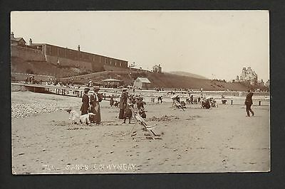 Colwyn Bay - Sands - real photographic postcard