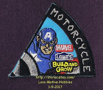LMH PATCH Badge 2015 CAPTAIN AMERICA MOTORCYCLE Marvel Avengers LOWES Build Grow