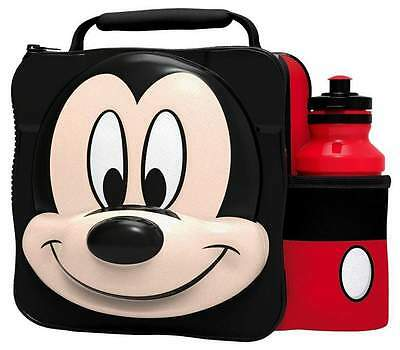 Mickey Mouse Disney Childrens 3D Thermal Lunch Bag Box & Drink Bottle Set 59055