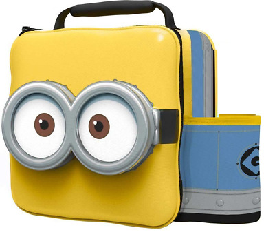 Official Minions Thermal 3D Lunch Bag Box & Drink Bottle Set School Picnic 76255