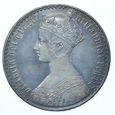 Rare 1847 Gothic Crown, Undecimo, British Silver Coin From Victoria Gef