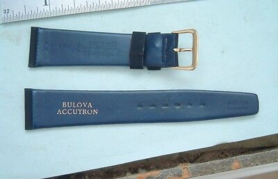 Bulova Accutron 20mm  Corfam Dark Blue Copa suede watch band strap New old stock
