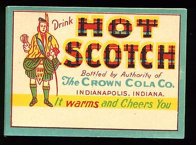 38 Unused Hot Scotch Bottle Labels By Crown Cola Co Indianapolis Indiana