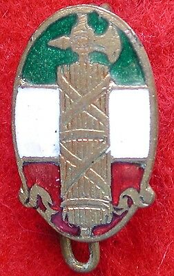 EARLY PARTY ENAMELLED P.N.F. 1919/23 BADGE PARTITO NAZIONALE FASCISTA 1st TYPE 3