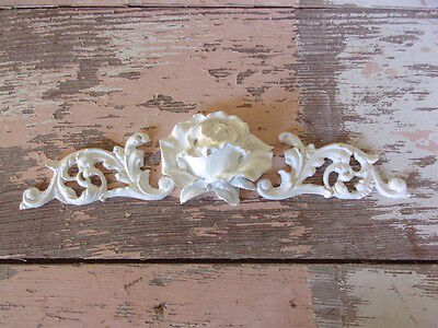 SHABBY n CHIC FURNITURE APPLIQUES * ARCHITECTURAL SIDES w/ ROSE * STAINABLE