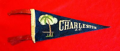 Charleston South Carolina 1940s Vintage Souvenir Travel Pennant msc6