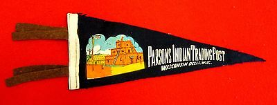 Parsons Indian Trading Post Souvenir Pennant Wisconsin Dells Wisconsin msc6