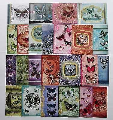 Hunkydory Little Book of Jewelled Butterflies Card Toppers x 24 Sheets