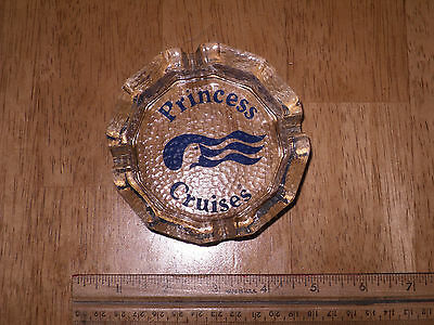 Vintage, Princess Cruise Line Ship, Glass Ashtray