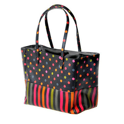 Danielle Creations Stripe and Polka Dot Insulated Lunch Tote Bag