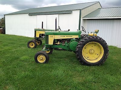 TWO John Deere 730 tractors with CONSECUTIVE serial numbers