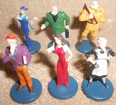 Clue Board Game Replacement Parts - 6 Plastic Character Figures