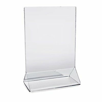 Star Foodservice 22940 Acrylic Table Menu Card Holder 4 by 6in Set of 12, New