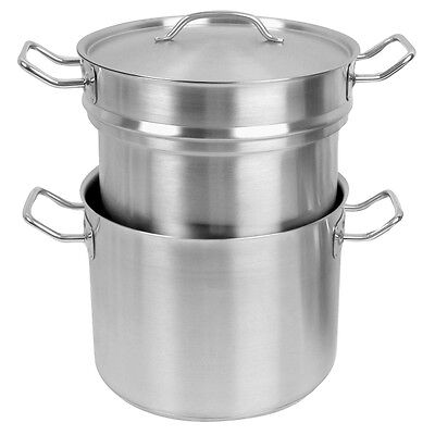 3Pieces/set 20 QT Stainless Steel Double Boiler Commercial SLDB020