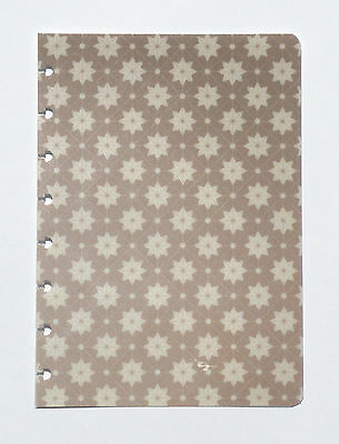 "New CUSTOM COVER * Tan Stars * for CIRCA Notebook JUNIOR Size ~ 6"" x 8.5"""