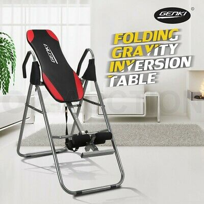 Genki Folding Gravity Inversion Table Fitness Upside Down Exercise Home Gym