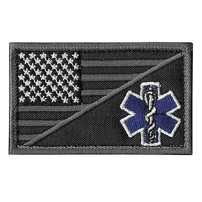 Paramedic EMS EMT Star of Life subdued ACU embroidered morale sew iron on patch