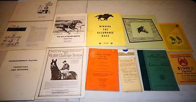 11 Vintage Gambling Thoroughbred Racing Systems Books 1938 to 1980's