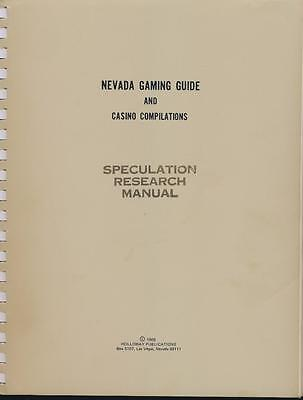 L.G. Holloway 1969 Nevada Gaming Guide Speculation Research System Manual