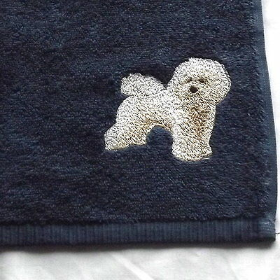 Bichon Frise Dog Embroidered Face Cloth Flannel, Dog Gift, Bichon Gift