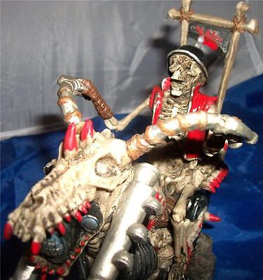 Nemesis Now HELL OF A RIDER SKELETON RIDING A CHOPPER Skull Gothic Motorbike
