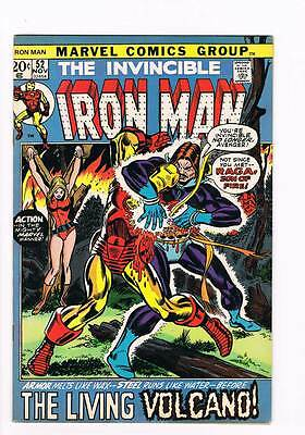 Iron Man # 52  Raga the Living Volcano  grade 6.5 scarce hot book !!