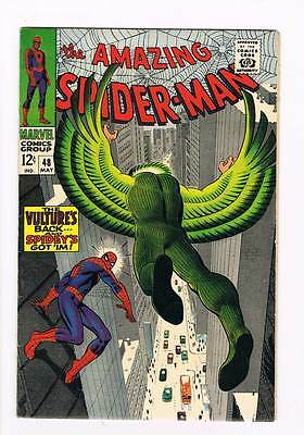 Amazing Spider-Man # 48  The Vulture's Back ! grade 8.0 scarce hot book !!
