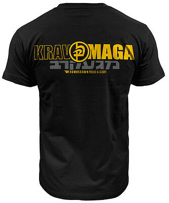 T-Shirt Thumbsdown Krav Maga ! Ideal For Mma, Training, Casual Wears! Ts326Blk