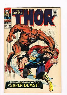 Thor # 135  The Maddening Super-Beast !  grade 8.0 scarce hot book !!