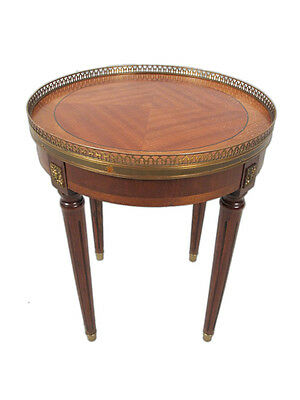 Beautiful French Luis XVI Style Round Side Table - 11300