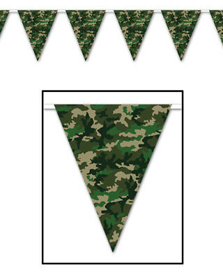 Military Camo Camouflage Flag Pennant America Streamer String Banner Decoration
