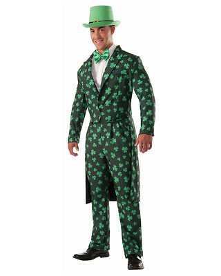 Adult's Mens St. Patrick's Day Shamrock Formal Suit And Bow Tie Costume