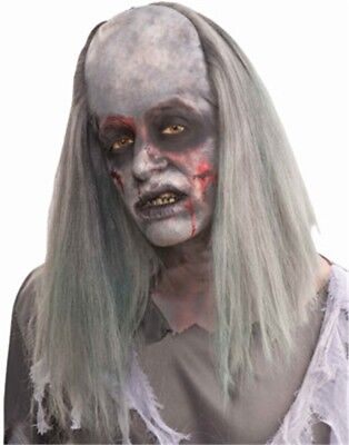 Adult Grey Zombie Grave Robber Costume Long Wig