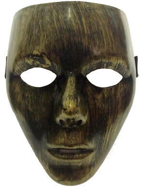 Adult's Gold Facemask Man Halloween Costume Face Mask Accessory