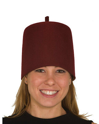 Classic Adult Red Wool Felt Fez Hat Costume Accessory