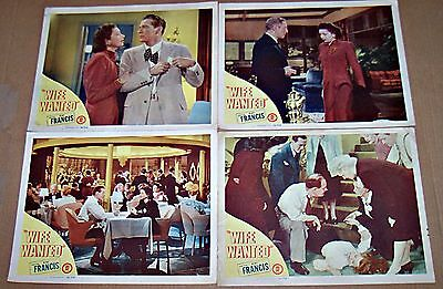 Wife Wanted (1946) Kay Francis * Great Lot Of 4 Original Lobby Cards