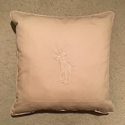 Ralph Lauren Home Polo Player Cushion Cover - Natural Size 50x50cm RRP: £109