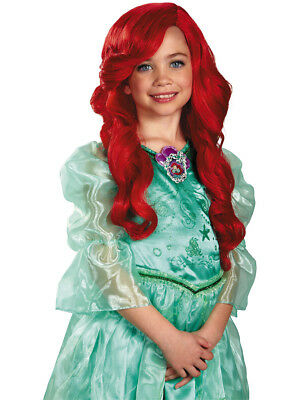 Disney Princess Ariel Child's Long Red Curly Costume Dress Up Wig