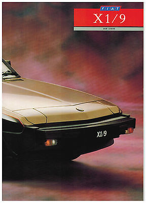 Fiat X 1/9 Catalogue 3 Pages 1987 Format A4 Angleterre