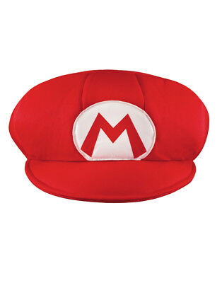 Adult Mens Jumbo Giant Nintendo Super Mario Brothers Costume Accessory Red M Hat