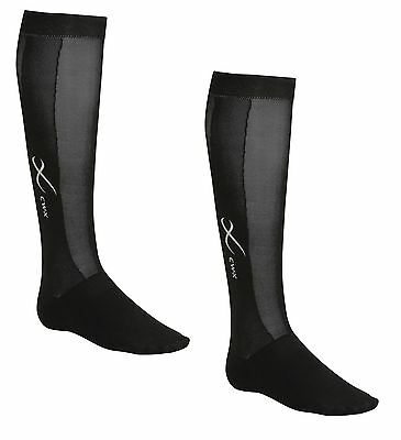 New CW-X Unisex Men Women Compression Socks Pair Black Sports Running ALL SIZES