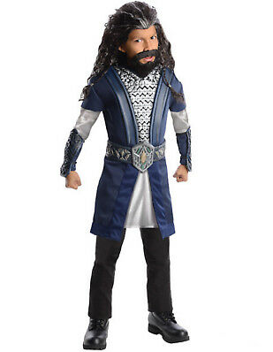 Kids Childs Boys Lord of the Rings Hobbit Dwarf Viking Thorin Character Costume